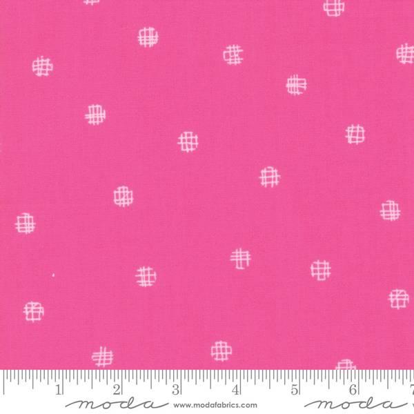 Bilde av Just Red - Hot Pink Cross my dots - sterk rosa m 9 mm prikker