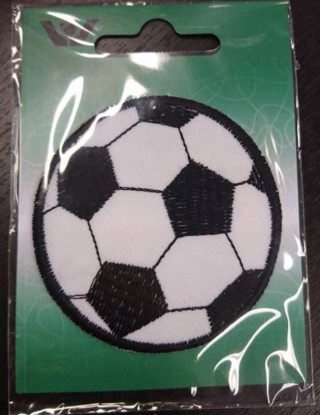 Bilde av Symerke med lim - Fotball, 6,5 cm rund sort-hvit