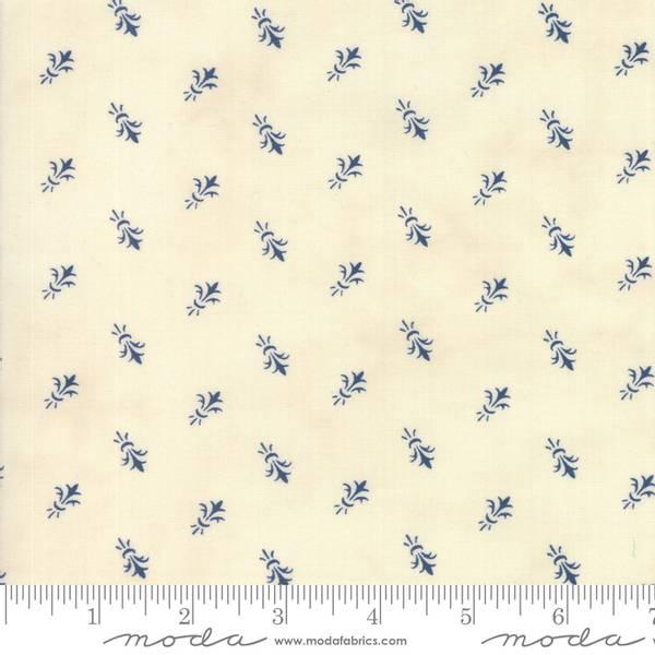 Bilde av Indigo Gatherings - offwhite m 13 mm blå mønster