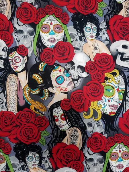Bilde av Nocturna - 2,5-5 cm roser, hodeskaller, gothic, kvinne