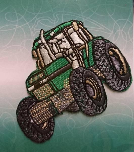 Bilde av Symerke med lim - Traktor grønn - 5 x 7 cm