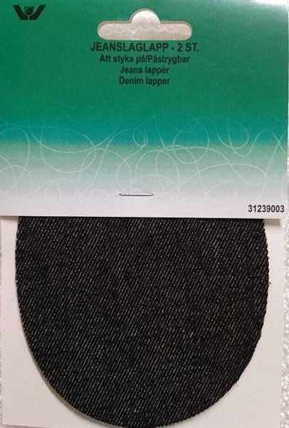 Bilde av Jeans Reparaturlapper til stryking, 2 st dongeri sort