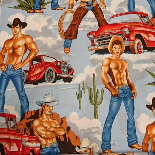 Bilde av Wranglers - ca 35 cm Pin up-cowboy og bil