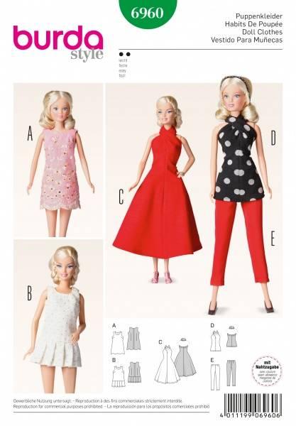 Bilde av 6960 - Burda - dukketøy, barbie-klær