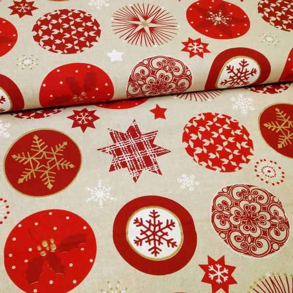 Bilde av Linlook - 9 cm røde rundinger med motiv