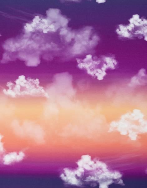 Bilde av Modal-French Terry - Cloudy Sky - lilla-oransje