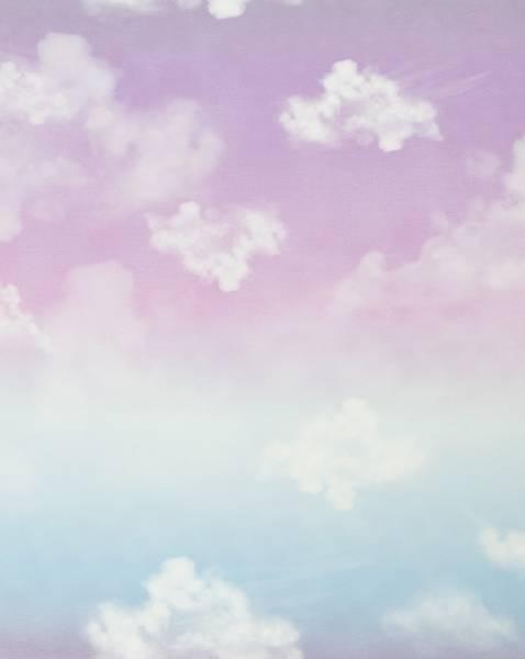 Bilde av Modal-French Terry - Cloudy Sky - blå-lyslilla