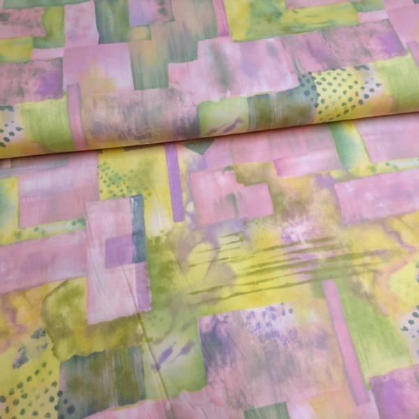 Bilde av Silent Inspirations - 3-9 cm ruter - rosa-gul-grønn