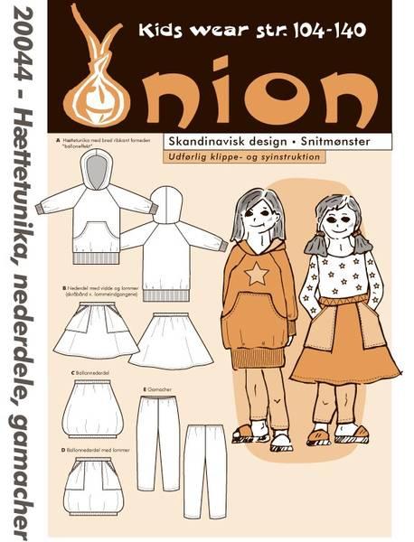 Bilde av Onion 20044 - hettetunika, skjørt, tights
