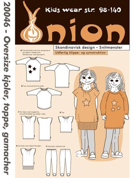 Bilde av Onion 20046 - tights, oversize-kjole, topp, genser
