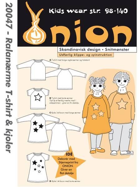 Bilde av Onion 20047 - T-skjorte & kjoler med raglanermer til stretchstof