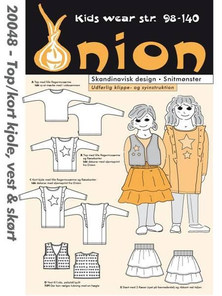 Bilde av Onion 20048 - Topp/ kort kjole, vest og skjørt