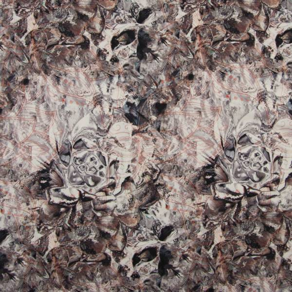 Bilde av Yoga Stretchjersey - gråbrun mønstret