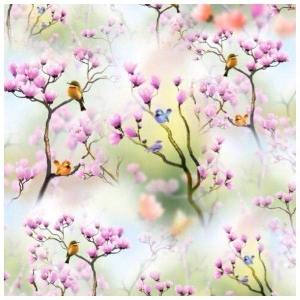 Bilde av Birds - digital bomullsjersey