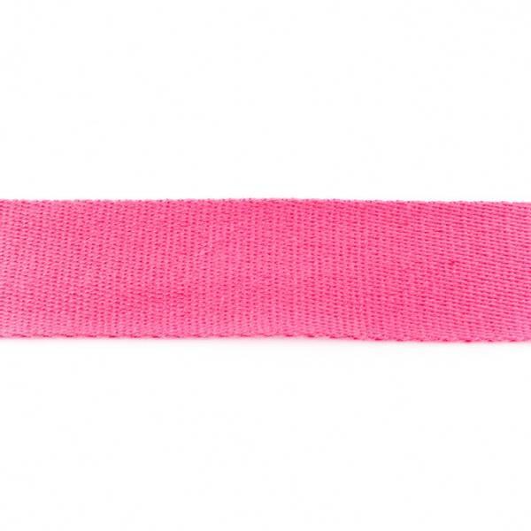 Bilde av Webbing, bomullsbånd, 38 mm, sterk rosa
