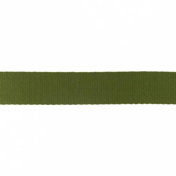 Bilde av Webbing, bomullsbånd, 38 mm, olivgrønn