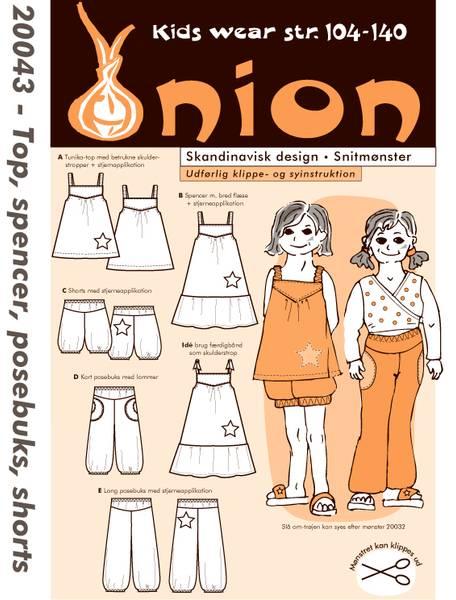 Bilde av Onion 20043 - topp, kjole, posebukse, shorts