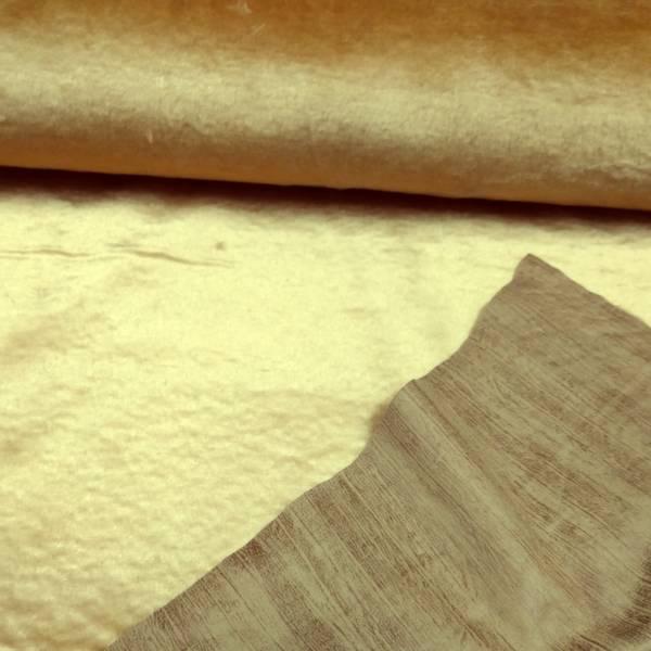 Bilde av Imitert ruskinn med pels - lysbrun/kamel