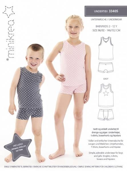 Bilde av Minikrea 33405 - undertøy til barn - bokser, truse, trøye, t-skj