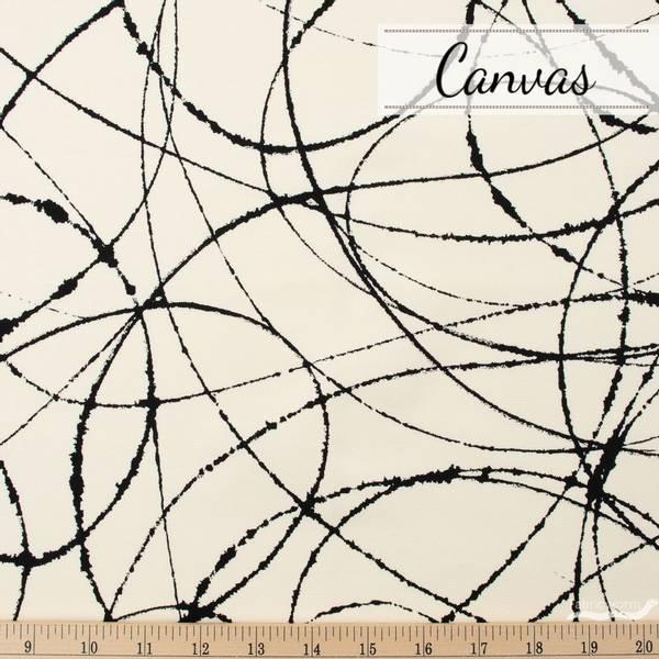 Bilde av Ink Black, Heavy Oxford Canvas - Kanvas sort på natur
