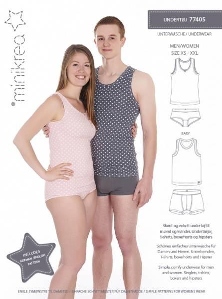 Bilde av Minikrea 77405 - undertøy til voksen - bokser, truse, trøye, t-s