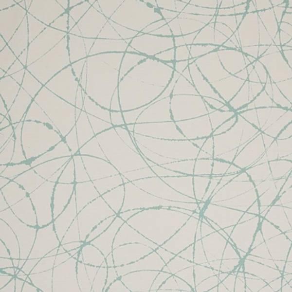 Bilde av 50 cm Ink Ocean - Kanvas aqua på offwhite