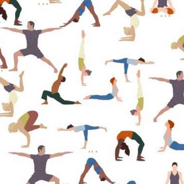 Bilde av Namaste - Yoga - 4-7 cm figurer på ecru