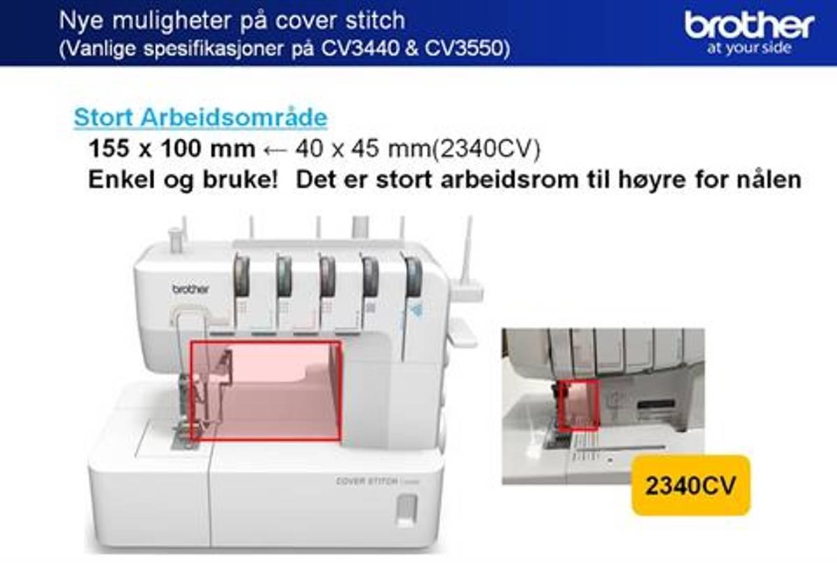 Brother CV3550 dobbel side Coverstitchmaskin TopCover