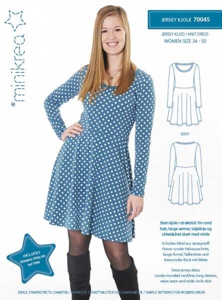 Bilde av Minikrea 70045 - basic kjole til stretchstoff, easy, 34-50