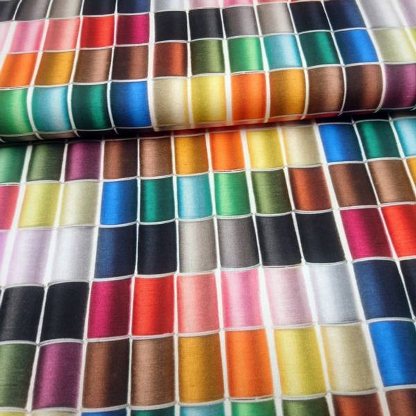 Bilde av Kraftig bomull - 5 cm flerfargete trådsneller