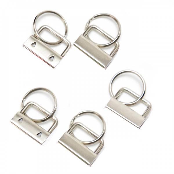 Bilde av Metallklemmer til Nøkkelring bånd, set med 5 st