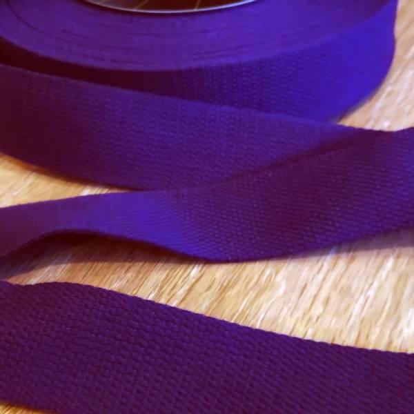 Bilde av Bomullsbånd, kraftig, 40 mm - mørklilla