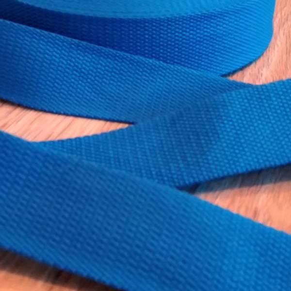 Bilde av Bomullsbånd, kraftig, 40 mm - koboltblå