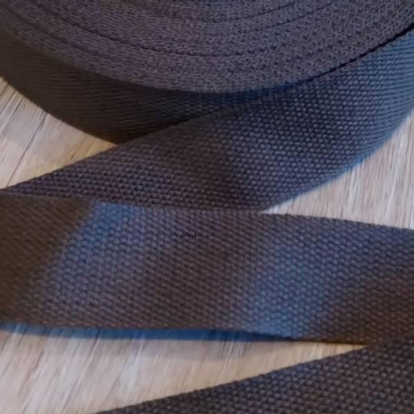 Bilde av Bomullsbånd, kraftig, 40 mm - brun