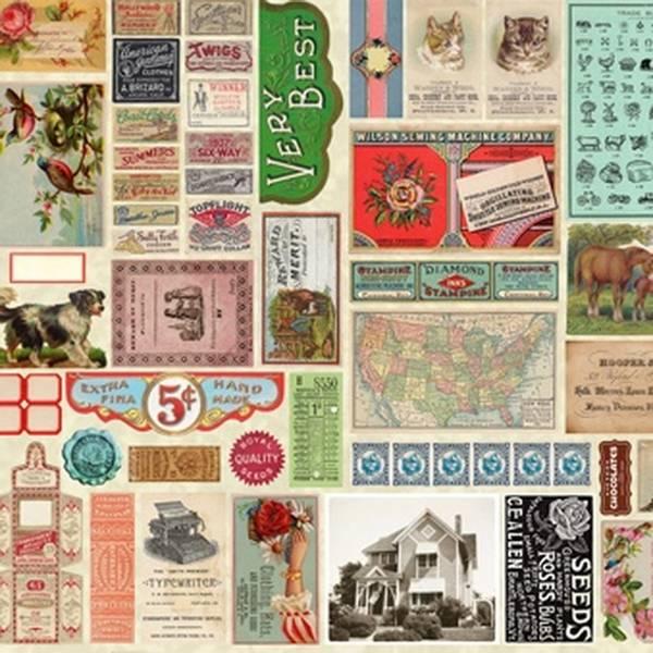 Bilde av Flea Market Mix - historiske motiver i farge