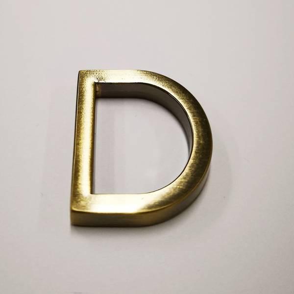 Bilde av D-ring, matt gull, 4cm bred - Clover