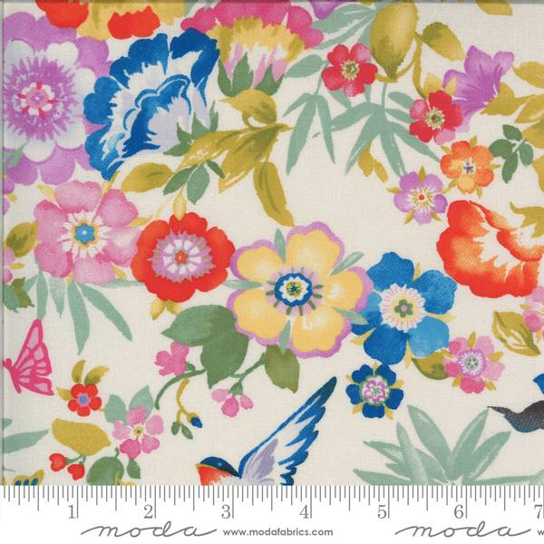 Bilde av Lulu - 15-70 mm blomster & fugl på linfarget