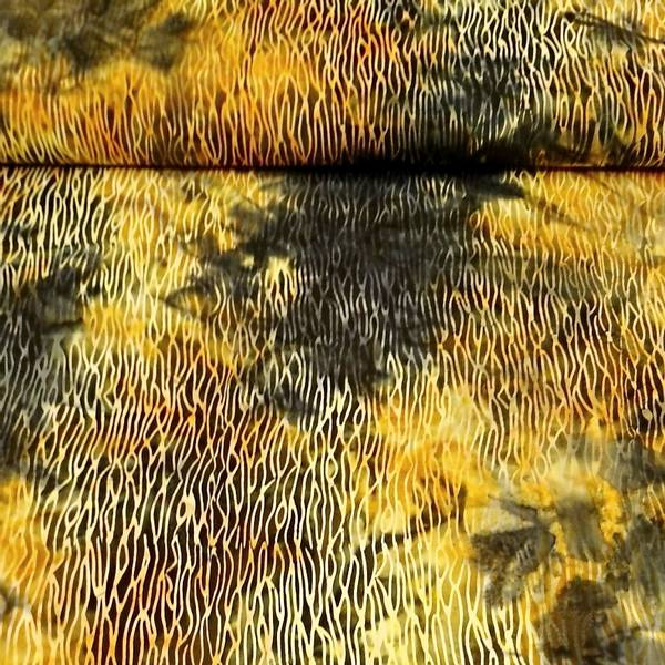 Bilde av Batikk - oliven-gul stripemønster
