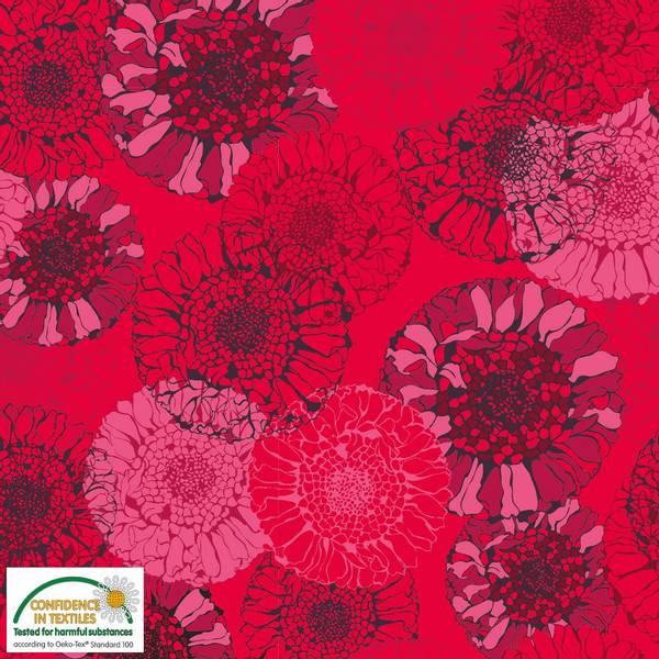 Bilde av Avalana - bomullsjersey, 5-6 cm rød-rosa blomsterhoder