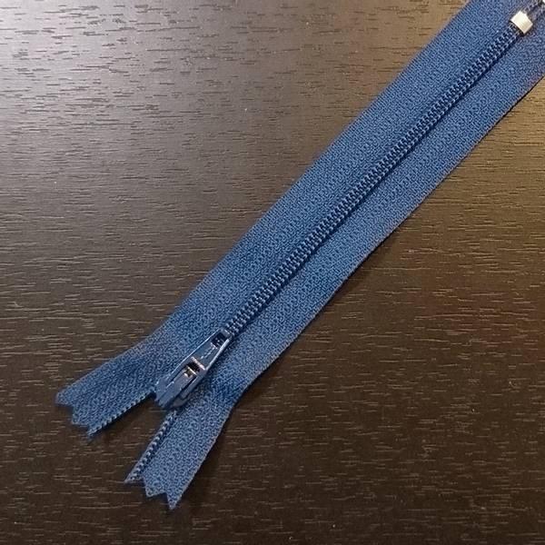 Bilde av 12 cm Spiralglidelås, 4mm ikke delbar, koboltblå