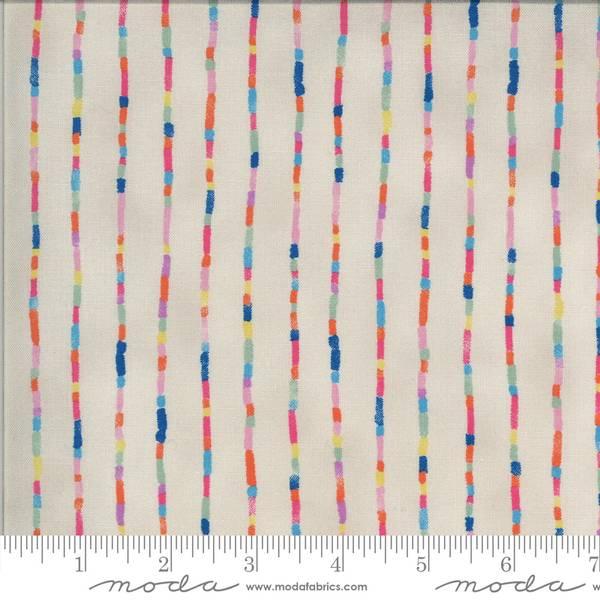 Bilde av Lulu - 2 mm flerfargete striper på linfarget