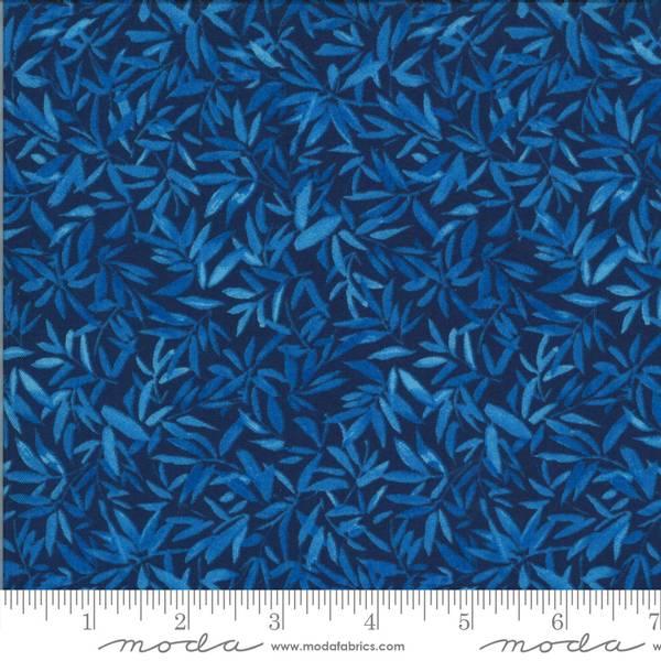 Bilde av Lulu - 15 mmblå  blader på marine