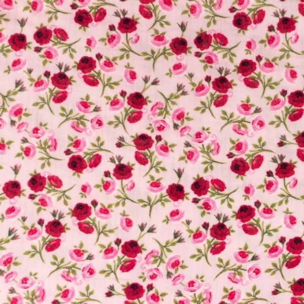Bilde av 1,1 m Double Gauze - 1 cm roser på rosa