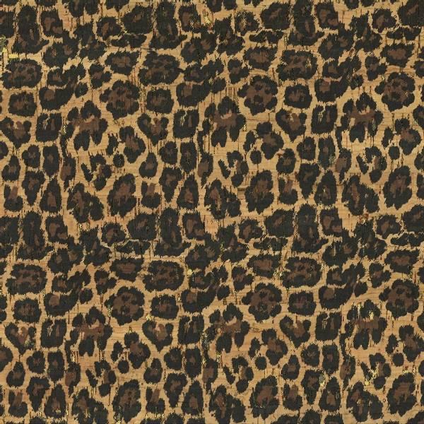 Bilde av Kork med dyreprint - Leopard m gull