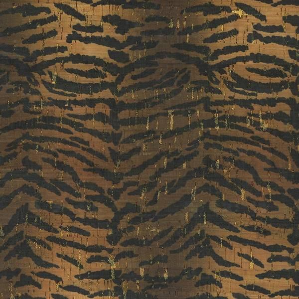 Bilde av Kork med dyreprint - Tiger m gull