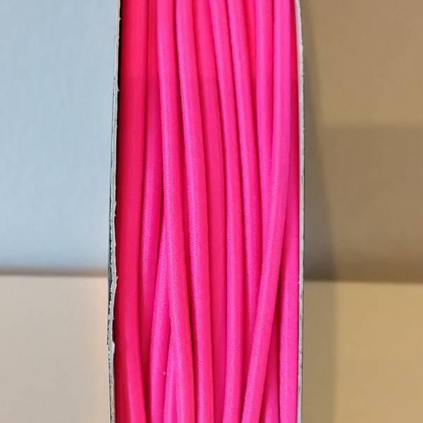 Bilde av Rundstrikk - 3 mm, sterk rosa
