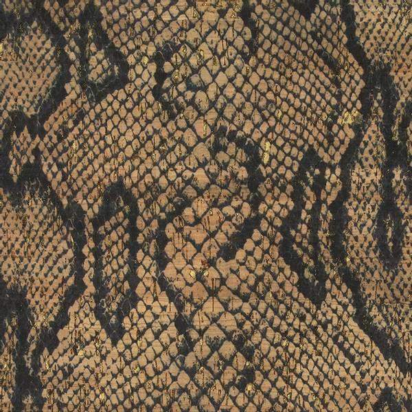 Bilde av Kork med dyreprint - Slange med gull