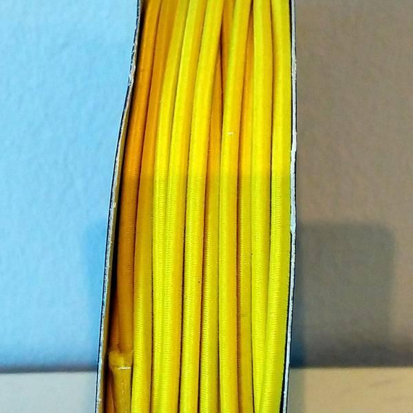 Bilde av Rundstrikk - 3 mm, gul