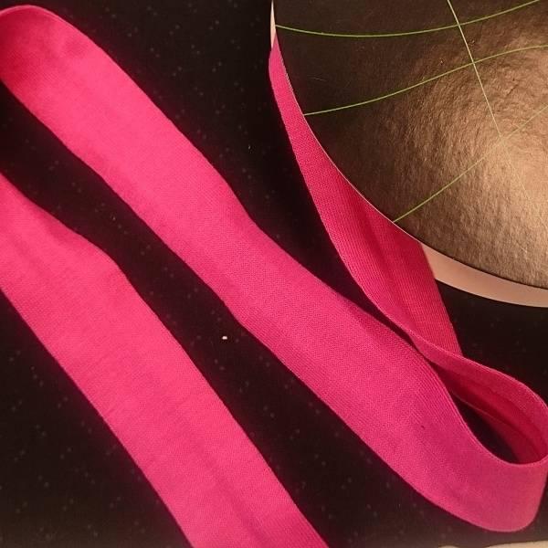 Bilde av Jersey kantbånd -  sterk rosa