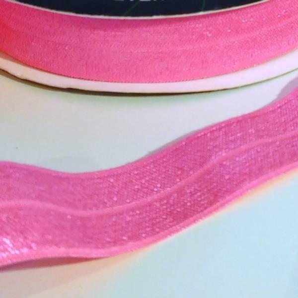 Bilde av FOE - foldeelastikk, 19 mm - sterk rosa